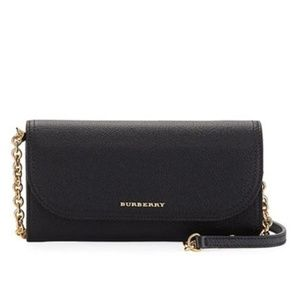 Burberry Henley Wallet-on-chain Black Leather